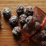 Dried fruit and chocolate truffles