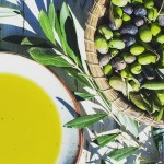 fresh olio nuovo and olives